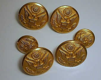 Vintagej Army Military Buttons