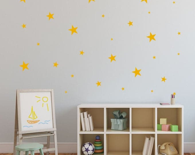 Star Wall Decals | Nursery Wall Decal | Nursery Decor | Yellow Star Decal Set | HALF PRICE Sale