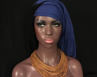 African Braided LEATHER Multi Strand Necklace Mustard Color Mali Tribal Dance Uber Kuchi®