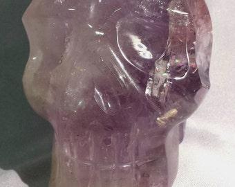 Amethyst Quartz Crystal Skull