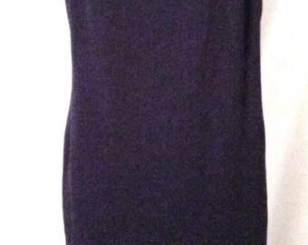 "BIG CLEARANCE SALE 80s Little Black Dress-Emanuel Ungaro-Evening-Chemise-High Fashion-Size 8-40"" Bust-Medium-Holiday Party-Chic-Lace Trim"