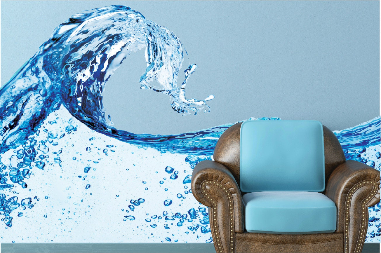 Water splash wall decal blue water wall mural vinyl wall mural water splash wall decal blue water wall mural vinyl wall mural infinite graphics photography art removable vinyl sticker home decor amipublicfo Image collections