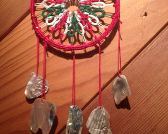 Christmas Delight hand tatted dreamcatcher