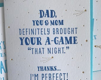 Funny Fathers Day Card – Fathers Day Card - Brought Your A-Game, Funny Card for Dad - DeLuce Design
