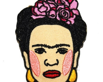 Frida Kahlo Iron On Patch Embroidery Sewing DIY Customise Denim Cotton Cute Feminist Art Mexican Day of the Dead