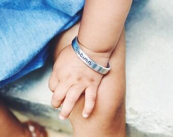 Keepsake Baby Cuff Bracelet - Hand Stamped Personalized Bracelet - Hand Stamped Baby Bracelet - Baby Cuff Bracelet - Baby Shower Gift