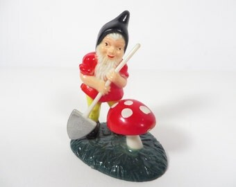 Vintage Miniature Plastic Garden Gnome Elf