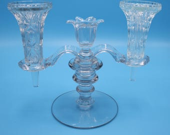 Epergne Horns / Peg Vases, Set of 2, Pressed Glass, HORNS ONLY in this listing