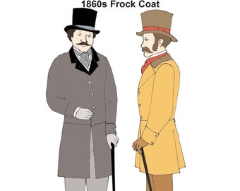 RH910 – 1860s-1870s Single-Breasted Frock Coat
