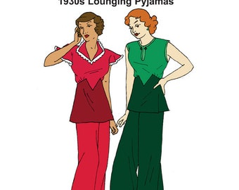 RH1328 — 1930s Lounging Pyjamas