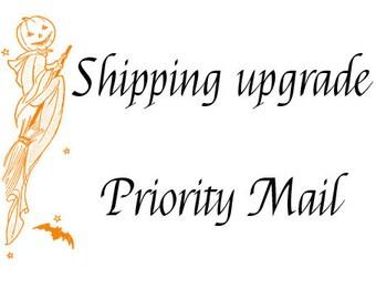 Shipping upgrade, upgrade shipping, priority mail, fast shipping, rush my shipping, USPS priority mail