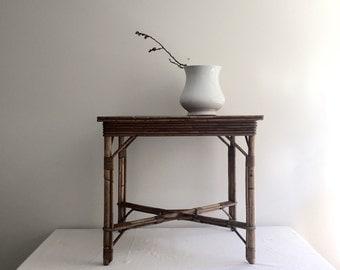 English Rattan and Bamboo Table