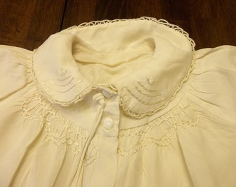 Magnificent Mid Century Silky Baby Baptism Coat..FRENCH...1950 Era...Free Shipping