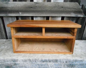 Small Wooden Box Bookshelf - Cubby Headboard or Desk Shelf