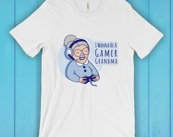 Gamer Grandma T-Shirt, Unisex Graphic T Shirt, Women's T Shirt, Men's T Shirt, available in 20 colors - Gamer Girl T-shirt, Gaming T-shirt