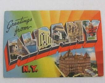 Vintage  Souvenir Folder of Albany E. C. Kropp US Travel Souvenir Fold-Out Picture Booklet