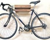 Wide Opening Walnut Bike Shelf