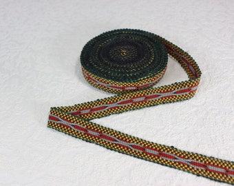Woven Trim (6 yards), Woven Border, Cotton Ribbon, Grosgrain Ribbon, Dress Border, Border Trim, R198