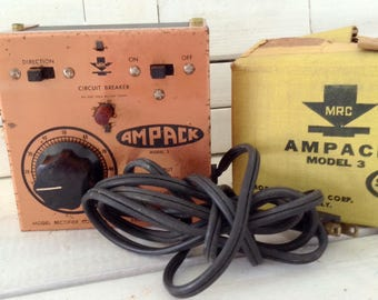 Ampack Model 3 - Model Railroad transformer - Train collector - collectible - man cave - gift for him