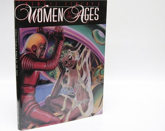 "Fantasy Art Book ""Women of the Ages"" Virgil Finlay First Edition Illustrated hardcover Golden Age Science Fiction Gifts for Him Collectible"