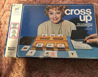 Cross Up by Milton Bradley,                    from the 1970's, crossword game