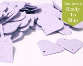 Orchid, Lavender Plantable Seed Paper Confetti Hearts - READY-TO-SHIP - Wedding Favors, Bridal Shower Favors, Baby Shower Favors