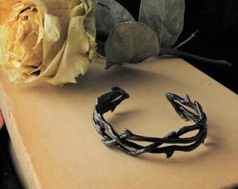 Thorn Bracelet, Gothic Jewelry, Cuff Bracelet, Gothic, Bracelet, Crown of Thorns Bracelet, Twilight Jewelry, Goth Jewelry, Dark Souls