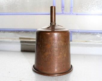 Vintage Coleman No. 0 Copper Filter Funnel