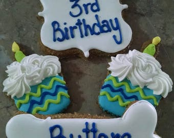 Personalized  Birthday Dog Treats cupcake dog treats