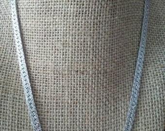 Vintage Herringbone Sterling Silver Chain