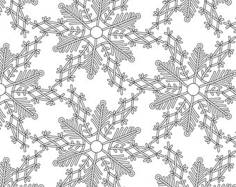 printable coloring page zentangle coloring book snowflake - Zentangle Coloring Book