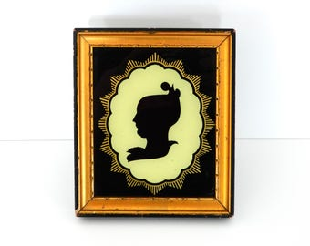 Silhouette of Unknown Woman by J. Brown- Silhouette Picture- Woman's Silhouette- Art Deco