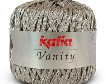 Sale 25% Off  50g/1.76oz/ Vanity Ribbon Tape yarn by Katia #2250