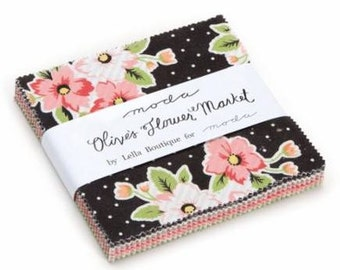 Moda - Lella Boutique - Olive's Flower Market Charm Pack