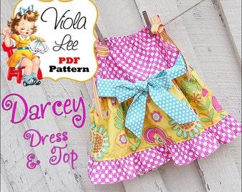 Darcey Pillowcase Dress Pattern, Girls Pillowcase Top Pattern, Ruffles. Girl's Dress Pattern. Toddler Sewing Pattern. Pdf Instant Download