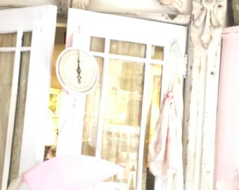 Reserved  sold   Layaway Pink  scale vintage hanging scale Free shipping farmhouse shabby chic prairie cottage