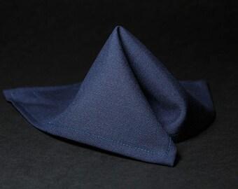Mens Wedding Navy Blue Pocket square / hankie