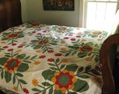 Bright and Cheery Antique Quilt Top with Provenance