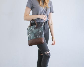 Hand dyed cross body day bag