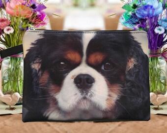 dog pouch,  dog pouch, dog purse, dog clutch, dog lover pouch, dog portrait pouch, dog makeup bag,MK 1617