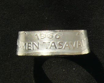 Silver Coin Ring 1966 Finland 1 Markka, Ring Size 8 and Double Sided