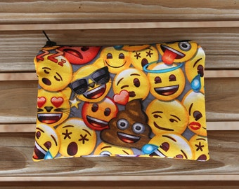 Reusable Snack Bag, Emoji - ZIPPER Snack Bag