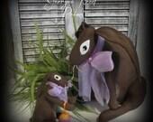 Primitive Easter Rabbits~Folk Art Bunnies~Handmade Mother and Baby Bunny