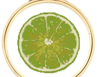 Cross stitch kit - Lime Fruit