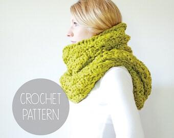 crochet pattern - oversized chunky scarf crochet pattern - the Highlander