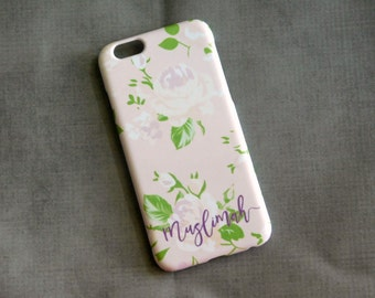 Muslimah Phone Case : Floral i6 S Snap On