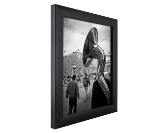 craig frames 17x17 inch modern black picture frame contemporary 1 wide 1wb3bk1717