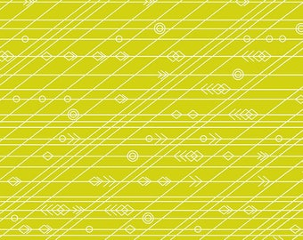 PRESALE - Diving Board - Latitude in Seaweed - Alison Glass for Andover - A-8639-G - 1/2 yd