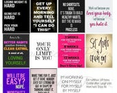 Work Out, #2-2, Quotes, Planner Stickers, Motiviation, Exercise, Fitness, Weight Loss, Weights, Running, Erin Condren, Plum Paper Planner.