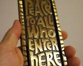 Vintage Hippie DOOR KNOCKER - BRASS
